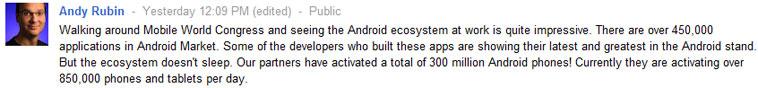 Статистика по Android от Энди Рубина