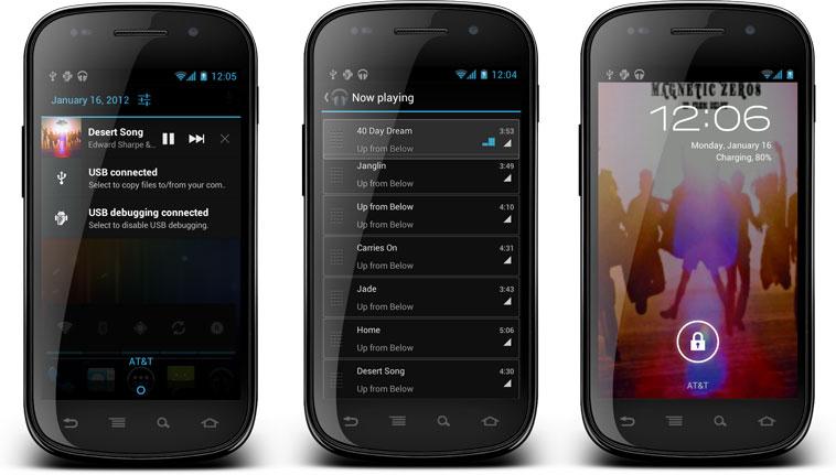 Музыкальный проигрыватель с CyanogenMod 9 доступен для устройств Android 4.0