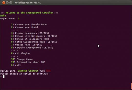 CMC Compiler позволяет самому собрать CyanogenMod