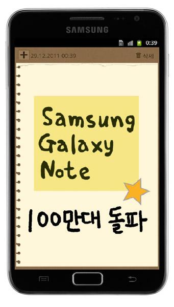 Продажи Samsung Galaxy Note перевалили за 1 млн
