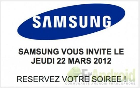 Samsung представит Galaxy S III 22 марта во Франции?