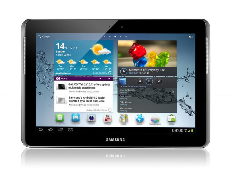 новый 10-дюймовый планшет семейства Galaxy Tab 2