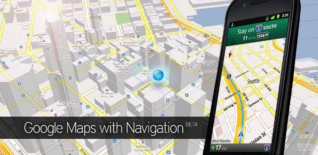 Gps navigation screenshots