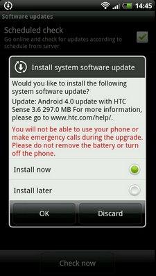 HTC Sensation начал получать обновление Android 4.0 в Европе