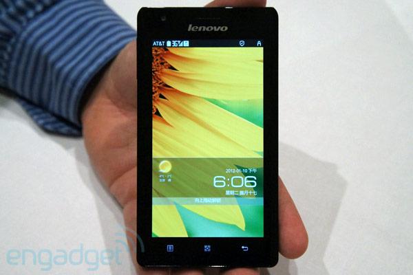 CES 2012: Lenovo K800 - первый потребительский смартфон с процессором Intel