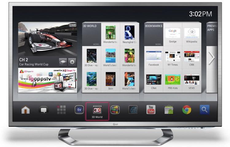 CES 2012: новые телевизоры от LG с Google TV