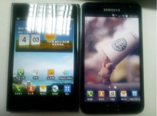 LG Optimus Vu в сравнении с Samsung Galaxy Note