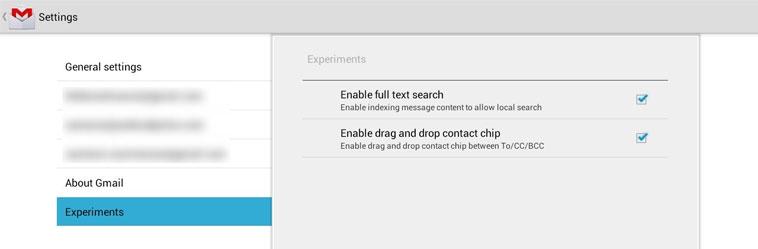 Новая версия Gmail в Android 4.0