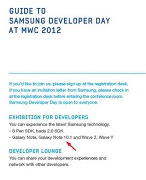Samsung готовит 10-дюймовую версию Note