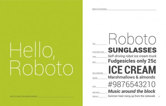 Шрифт Roboto официально доступен для других ОС