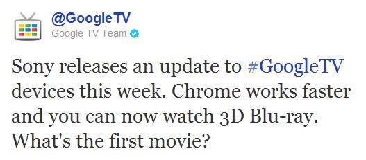 Sony обновила свои Blu-Ray проигрыватели с Google TV