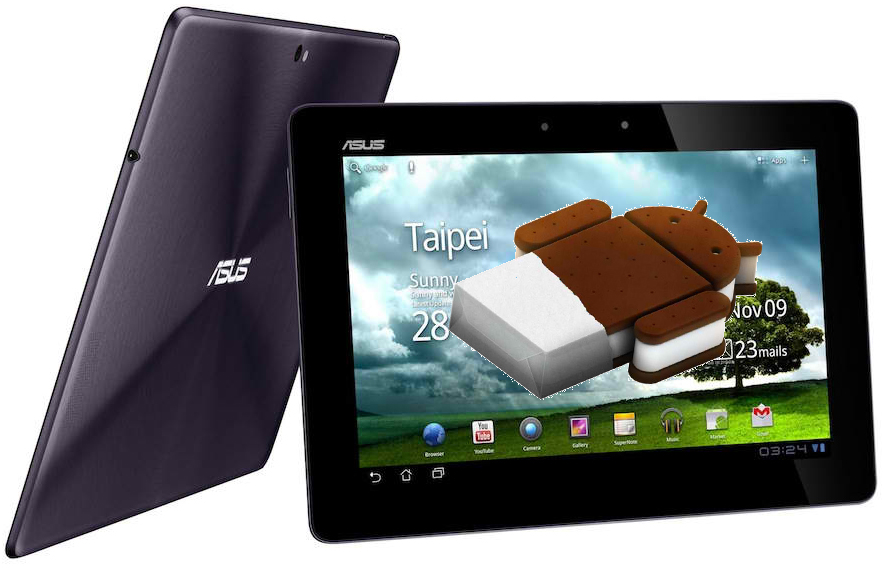 ASUS Transformer Prime получил обновление до Android Ice Cream Sandwich