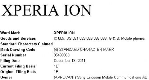 Компания Sony Ericsson зарегистрировала торговую марку Xperia Ion