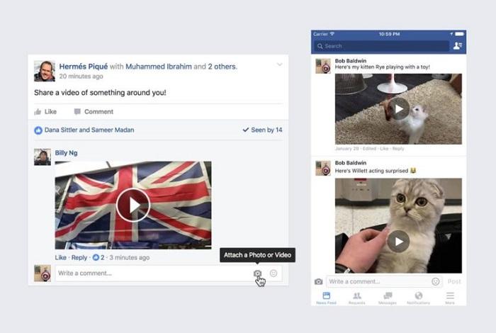 facebook-комментарии в формате видео