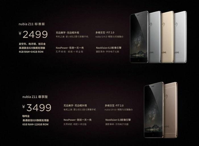 Стоимость смартфона Nubia 711