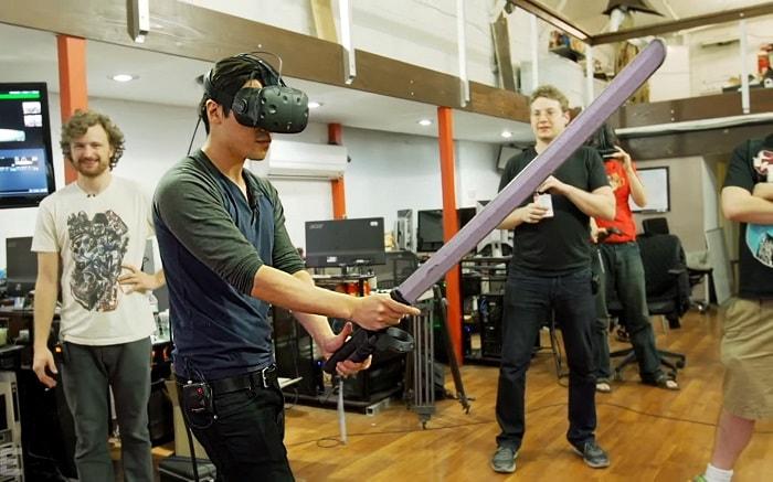 Виртуальная реальность с ninja-trainer-htc-vive