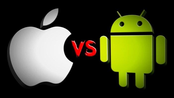логотипы Эппл и Андроид