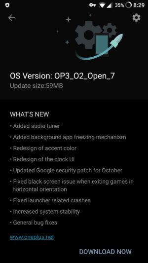 Обновление OxygenOS 3.5.5 Beta 7