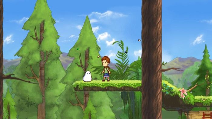 Геймплей игры A Boy and His Blob