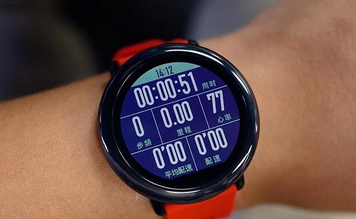Интерфейс смарт-часов Amazfit Pace
