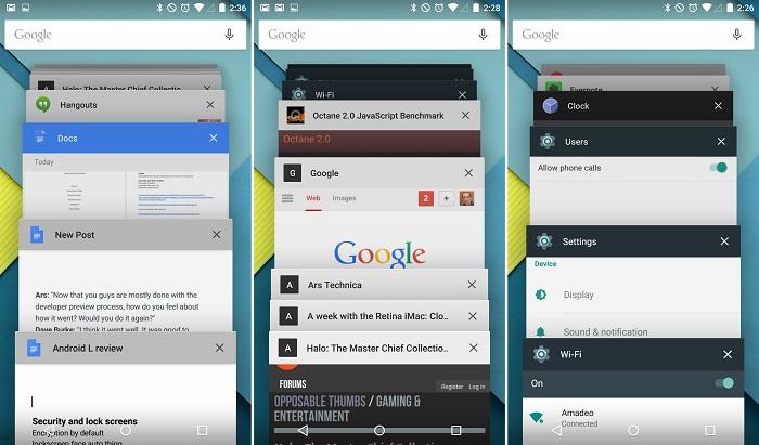 интерфейс приложение recently